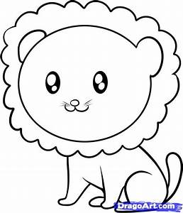 How to Draw a Lion for Kids, Step by Step, Animals For ...