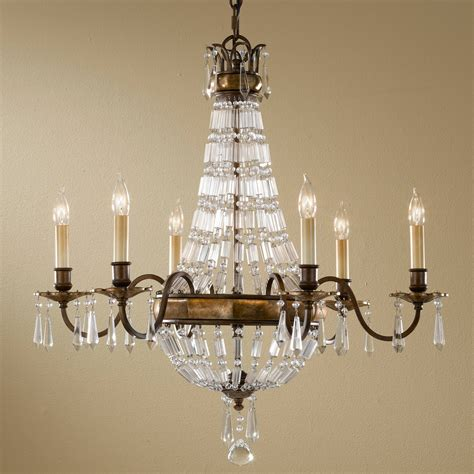 f2740 6bus 6 light chandelier burnished silver murray