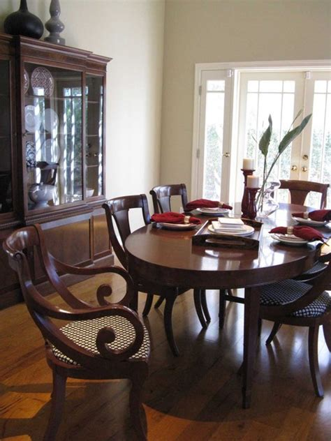 regency colonial dining room traditional