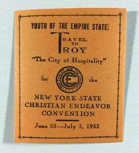 Poster Stamp New York State Christian Endeavor Convention ...