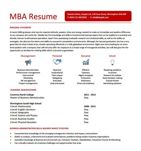 Career Objective For Resume For Mba by Best 25 Resume Objective Sle Ideas On