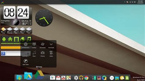how to make windows look like android l