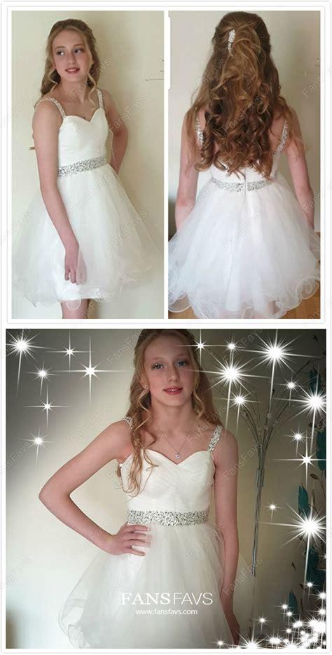 A-line Sweetheart Tulle Short/Mini Beading Prom Dresses ...