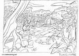 Coloring Claim Jungle Drawing Ruins Template sketch template