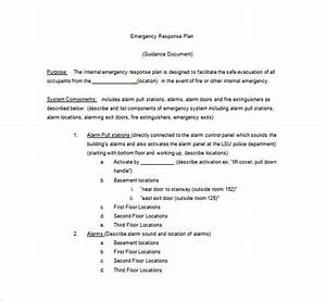 14 emergency plan templates free sample example With fire response plan template