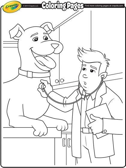 veterinarian coloring page crayolacom