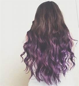 Brunette to Purple Ombre Dip Dye Hair | Hair | Pinterest ...