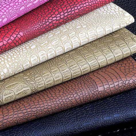 Seat Upholstery Fabric by 100x133cm Semi Pu Crocodile Leather Bag Fabric Leather