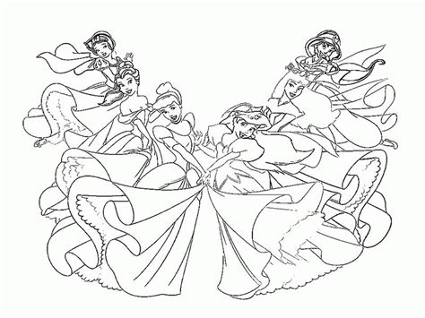 disney princess characters coloring pages coloring home