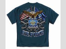 US Air Force Tattered Flag TShirt Air Force TShirts