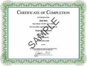 internship completion certificate sample letter format With anger management certificate template