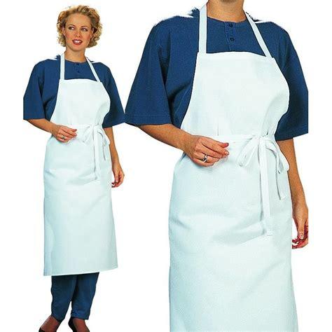 tablier de cuisine femme tablier cuisine à bavette restaurant bistro blanc coton sergé