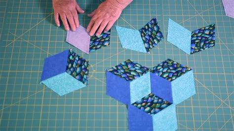 tumbling block quilt pattern template easy tumbling blocks learn how to mark and sew tumbling