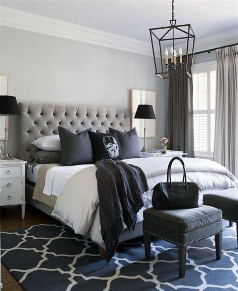 bedroom ideas master top 60 best master bedroom ideas luxury home interior 10488 | grey and blue master bedroom ideas with traditional chandelier