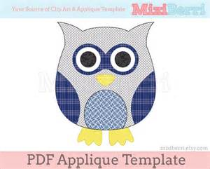 Owl Pumpkin Carving Templates Free Printable by Blue Owl Applique Template Pdf Applique Pattern Instant