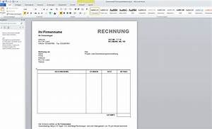 Rechnung Quittung : rechnungsvorlage word download giga ~ Themetempest.com Abrechnung