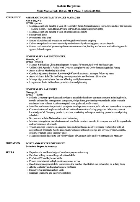 Collection of hotel sales manager resume samples - Addictips