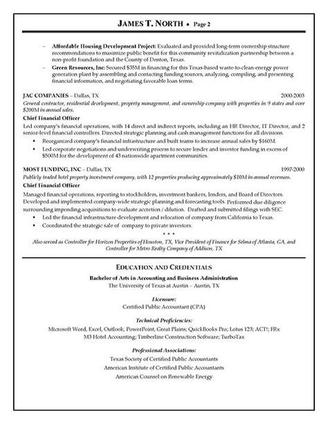 financial consultant resume