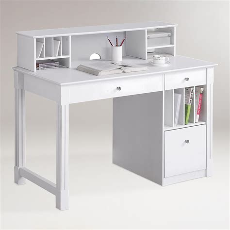 clara bureau white wood clara desk with hutch market