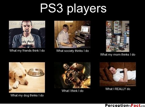 ps3 players what think i do what i really do perception vs fact