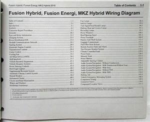 2016 Ford Fusion Energi  U0026 Lincoln Mkz Hybrid Electrical