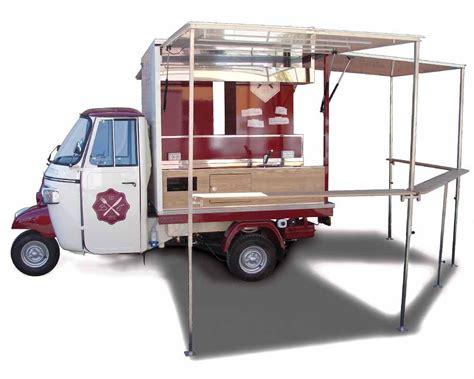 commercio ambulante itinerante alimentare vintage mobile food shop piaggio ape car bastian