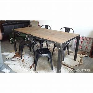 table salle manger industriel With table de salle a manger style industriel
