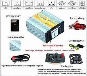 12v  220v Dc To Ac Circuit Diagram 300w Power Inverter With