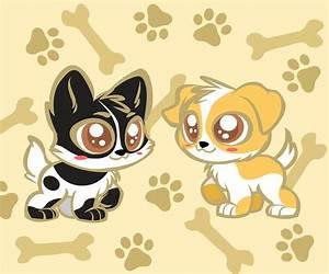 Kawaii chibi dogs by zerlincute on DeviantArt