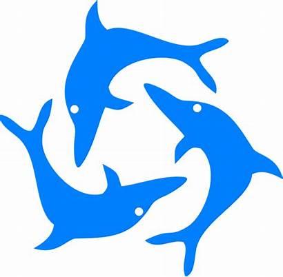 Dolphin Dolphins Jumping Clip Clipart Cartoon Vector
