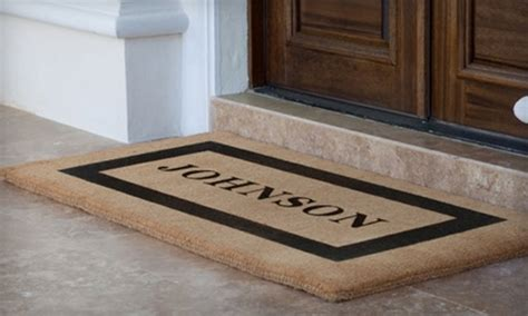 Personalized Doormat Company by Half Mats From Personalized Doormats Company