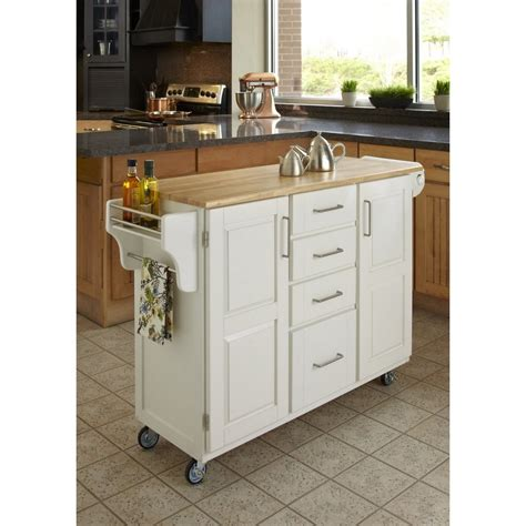 my kitchen cabinet create a cart white finish with wood top homestyles 1021