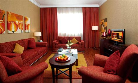 Red Color Living Room Decor With Dark Cream Wall Ideas Chocolate Brown Curtain Panels Pink Curtains Uk Black Tension Rods For Leaf Holdbacks With Swag Valance Hem Tape Tall Ceiling How To Make Arched Windows