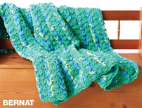 Bernat Bright And Easy Crochet Blanket, Crochet Pattern