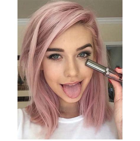 pastell rosa haarfarbe wie findet ihr die haarfarbe rosa