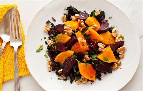 roasted beet  winter squash salad  walnuts recipe