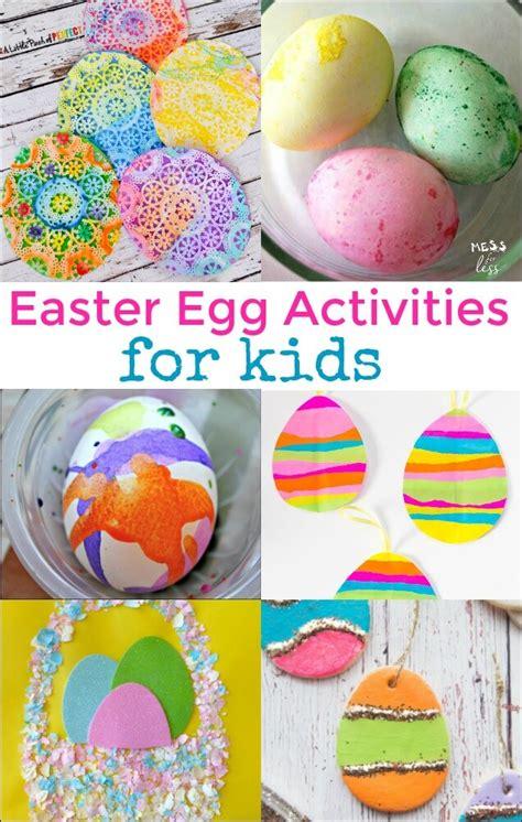 easter egg activities  kids mess