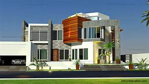Moderne Design Villa : 3d front oman modern contemporary villa 3d front elevation 2015 ~ Sanjose-hotels-ca.com Haus und Dekorationen
