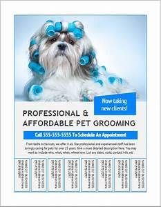 Make Free Online Flyers Dog Grooming Flyer Templates Bundle 13