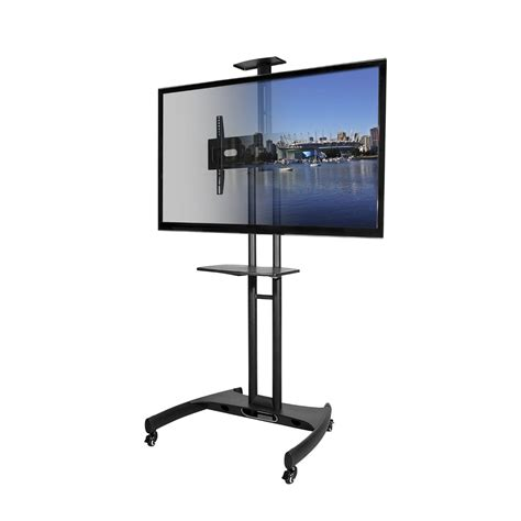 flat screen table stand kanto mobile tv stand with adjustable shelf and flat