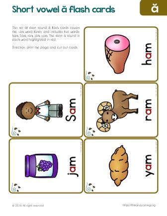 word family flashcards  images word families