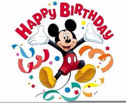 Clipart Mickey Birthday Mouse Party Disney Clip