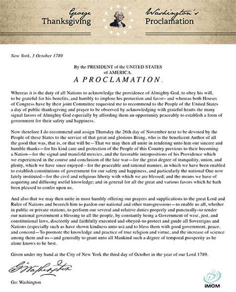 george washingtons thanksgiving proclamation imom