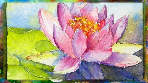How To Paint The Waterlily With Lotus Flower, Miniature