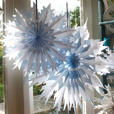 large cool blue white dip dyed tissue paper honeycomb