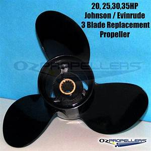 Outboard Prop Size Chart 15 20 25 30 35hp Johnson Evinrude Prop Propeller 3 Blade