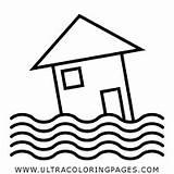 Flood Colorear Coloring Inundar Clipart Banjir Gambar Bencana Syringe Cartoon Dibujo Putih Hitam Clip Desastre Blanco Negro Imagen Transparent Lain sketch template