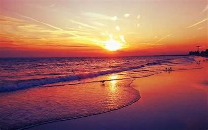 Sunset Beach Desktop Wallpapers Background Widescreen