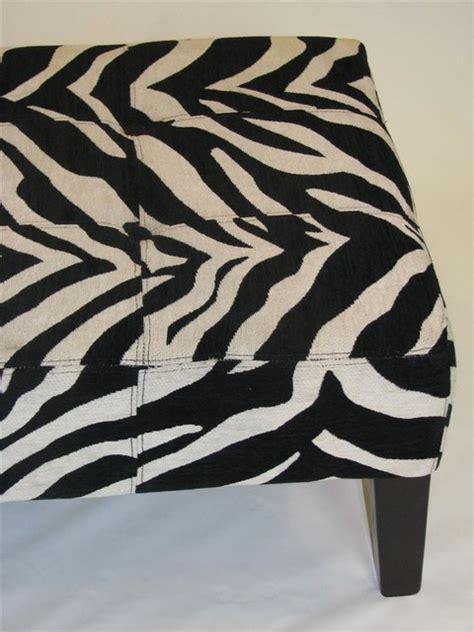 large animal print ottoman large zebra print coffee table bench ottoman