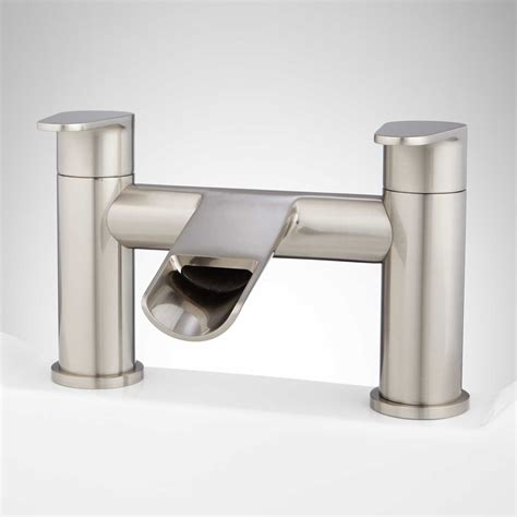deck mount tub faucet pagosa waterfall deck mount tub faucet tub mounted